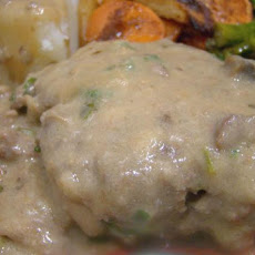 Salisbury Steak Made With Ground Beef