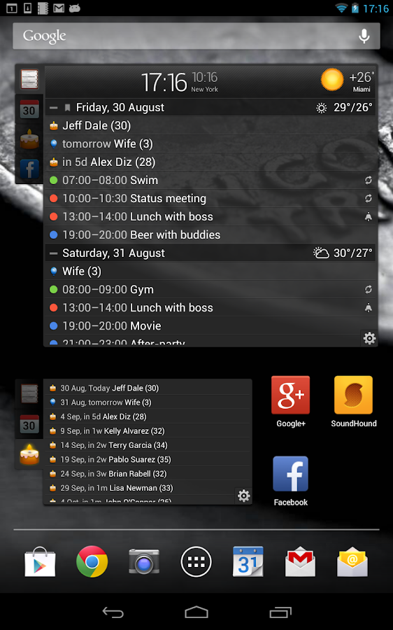 All-in-One Agenda widget Screenshot 14