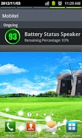 Screenshot of Battery Status Speaker