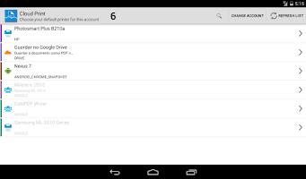 Screenshot of Cloud Print plus