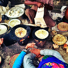 Parathas - A Morning Delight by Hassan Nasir - Novices Only Street & Candid ( mustard, paratha, lahore, street vendor, vendor, street, street scene, public, vendors, saag, street scenes )