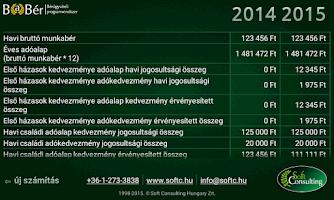 Screenshot of Bérkalkulátor