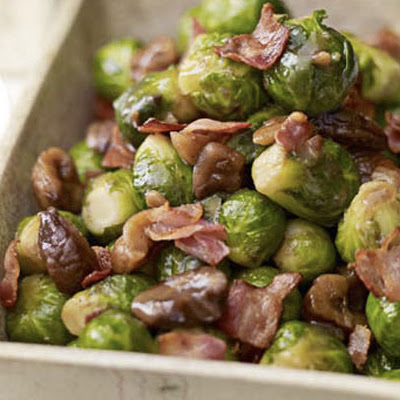 Sprouts With Chestnuts & Crisp Pancetta
