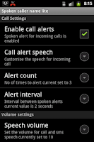 Screenshot of Talking Caller ID
