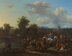 RIJKS: Nicolaes Pietersz. Berchem: The Cattle Ferry 1655