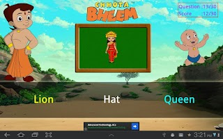 Screenshot of Word Game with Bheem
