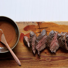 Easy Steak Sauce with Seared Hanger Steak
