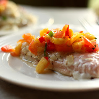 Creamy Coconut Salmon with Pineapple Salsa