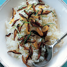 Jasmine Rice with Shiitakes and Scallions