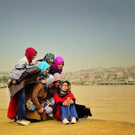 Colours of Istanbul by Ева Йорданова - City,  Street & Park  Street Scenes ( girls, joy, meeting, street, smartphone,  )