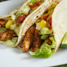 Blackened Swordfish Tacos w/ Mango Avocado Salsa