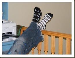 Kristen and socks