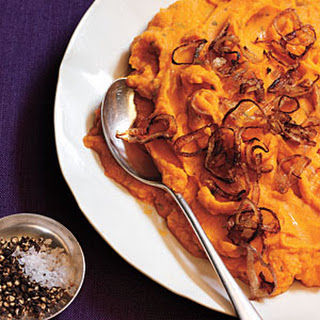 Rosemary Mashed Sweet Potatoes with Shallots