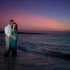 Okinawa Sunset by Chelsea Eigel - People Maternity ( maternity, sunset, okinawa )