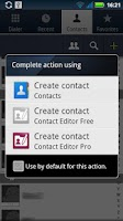 Screenshot of Contact Editor Free