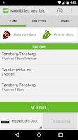 Screenshot of VKT Mobilbillett