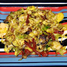 Superb Stir Fried Brussels Sprouts