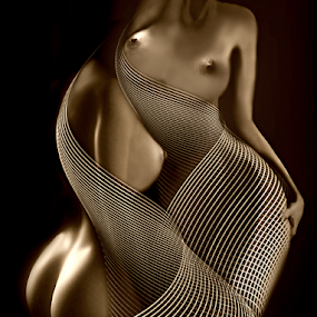 Duo by Carmen Velcic - Digital Art People ( abstract, body, nude, woman, she, lady, digital, curves )