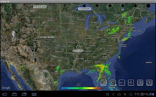 Screenshot of NOAA eRadar HD and Alerts