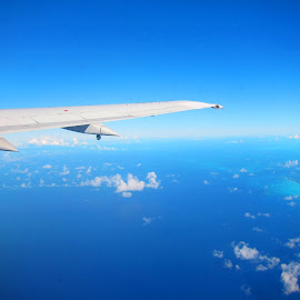 leaving miami by Jay Anderson - Transportation Airplanes ( plane, airplanes, cloud, sea, nassau, island,  )