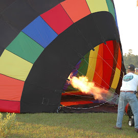 burner  by Holly Herrmann - Abstract Fire & Fireworks ( hot air balloon )