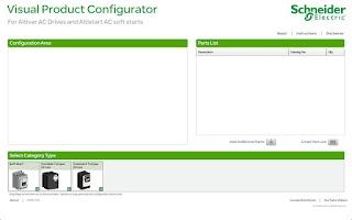 Screenshot of Drives Visual Configurator