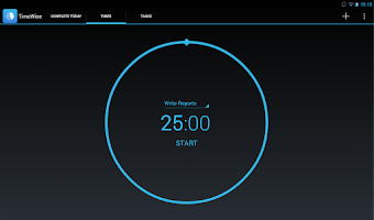 Screenshot of TimeWise: A Pomodoro Timer