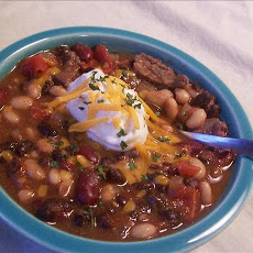 Sirloin Three Bean Chili