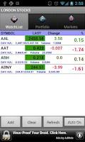 Screenshot of London Stocks