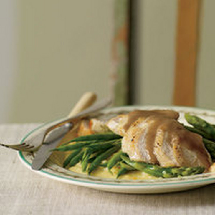 Orange-Balsamic Chicken with Asparagus, Green Beans and Polenta Recipe ...