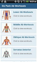 Screenshot of Six Pack Ab Workouts