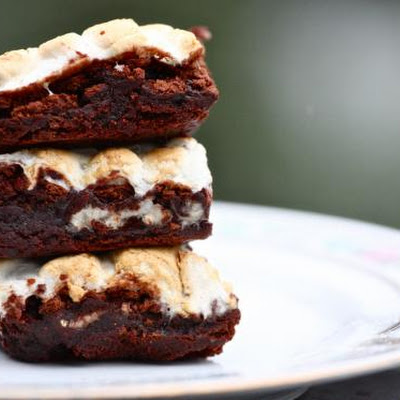Triple Layer Mint S'more Brownies