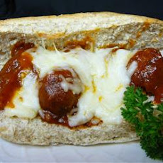 Meatball Grinders with a Yummy Sauce