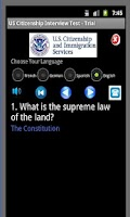 Screenshot of US Citizenship Test - Full Ver