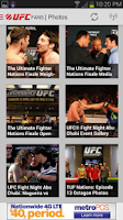 Screenshot of UFC Fans powered by MetroPCS
