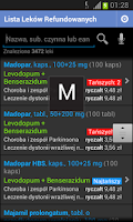 Screenshot of Lista Leków Refundowanych