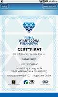 Screenshot of Firma Wiarygodna Finansowo