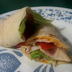 Warm Honey Turkey and Cheddar Wrap