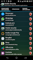 Screenshot of Mobile Security