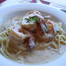 Quick Scampi with Cream Sauce