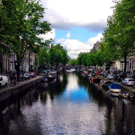 Amsterdam by Kaj Hombergen - Instagram & Mobile iPhone ( water, green, amsterdam, netherlands, city )