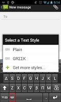 Screenshot of Text Styler Keyboard - Greek