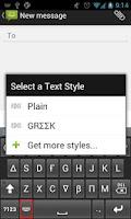 Screenshot of Text Styler Keyboard - Greek