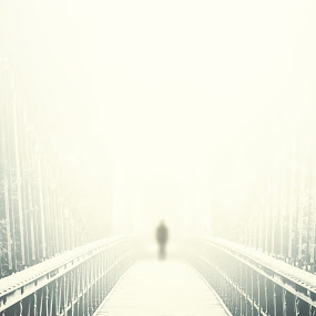 The Visitor by Alina M. - Digital Art Abstract ( arrival, bridge, stranger, visitor )