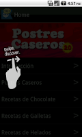 Screenshot of Postres Caseros 2.0