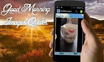 Screenshot of Good Morning Greeting Cards