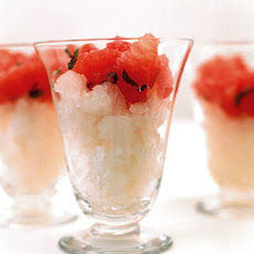 Poached Grapefruit with Grapefruit Granita