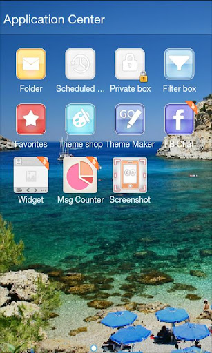 GO SMS Pro Summer Beach