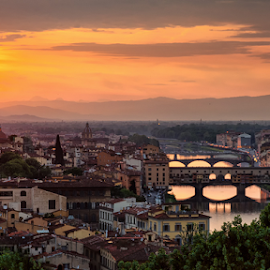 Firenze Fire by Colin Stewart - City,  Street & Park  Skylines ( cityscape )