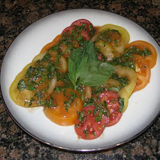 Tomato Salad With Fresh Basil Dressing